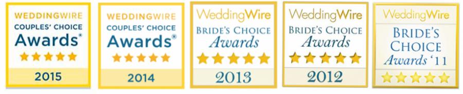 WeddingWire2011-2012-2013-2014-2015