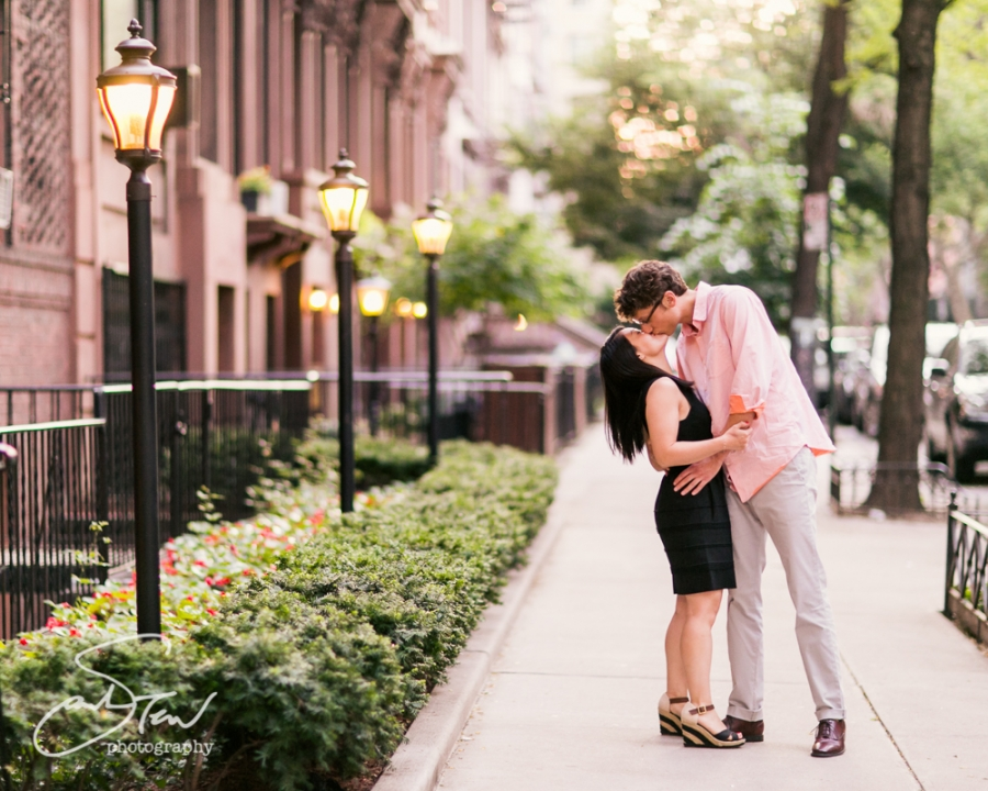 Engagement Portraits At Home In Brooklyn Heights Promenade