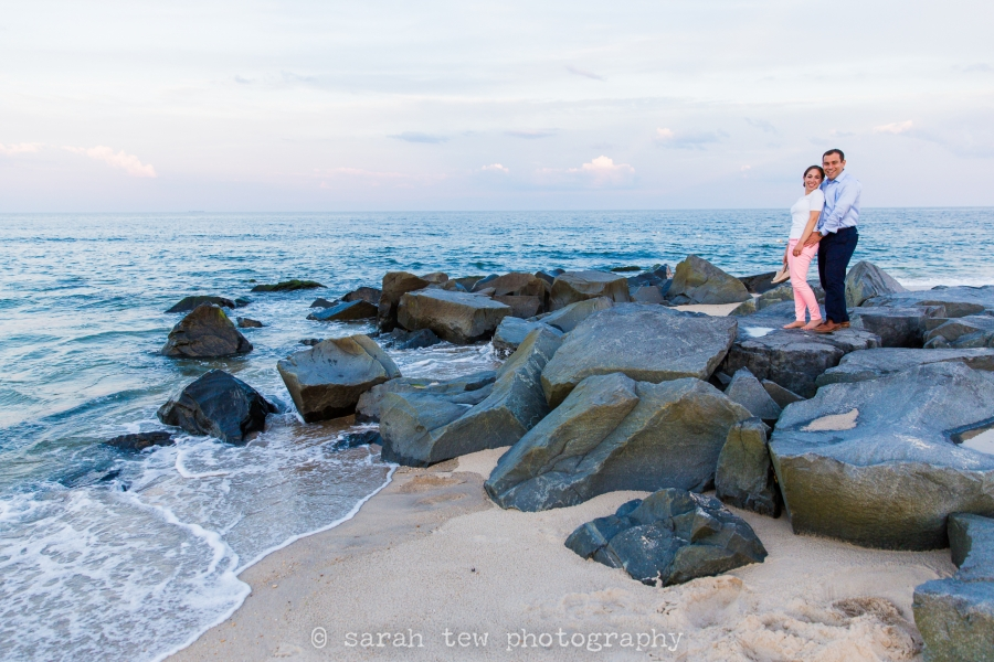 asbury park jersey shore beach engagement portraits by Sarah Tew Photography new york city wedding photographer