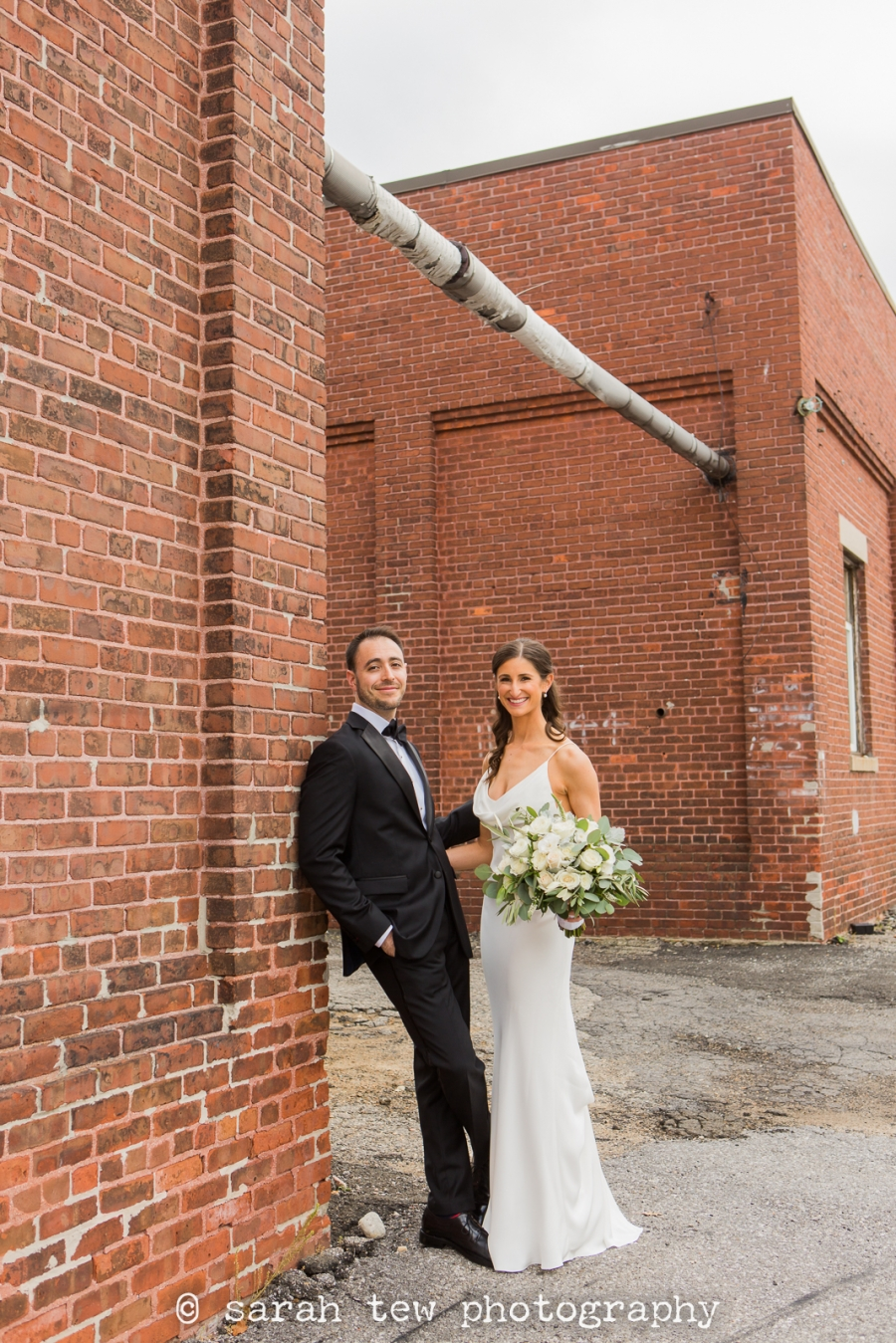 Noah & Erica's Modern Fall Wedding at The Loading Dock in Stamford, Connecticut