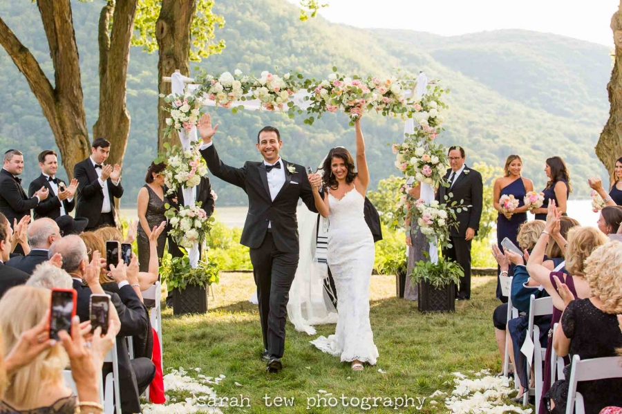 Tent Reception outdoor ceremony New York Wedding at Monteverde at Oldstone