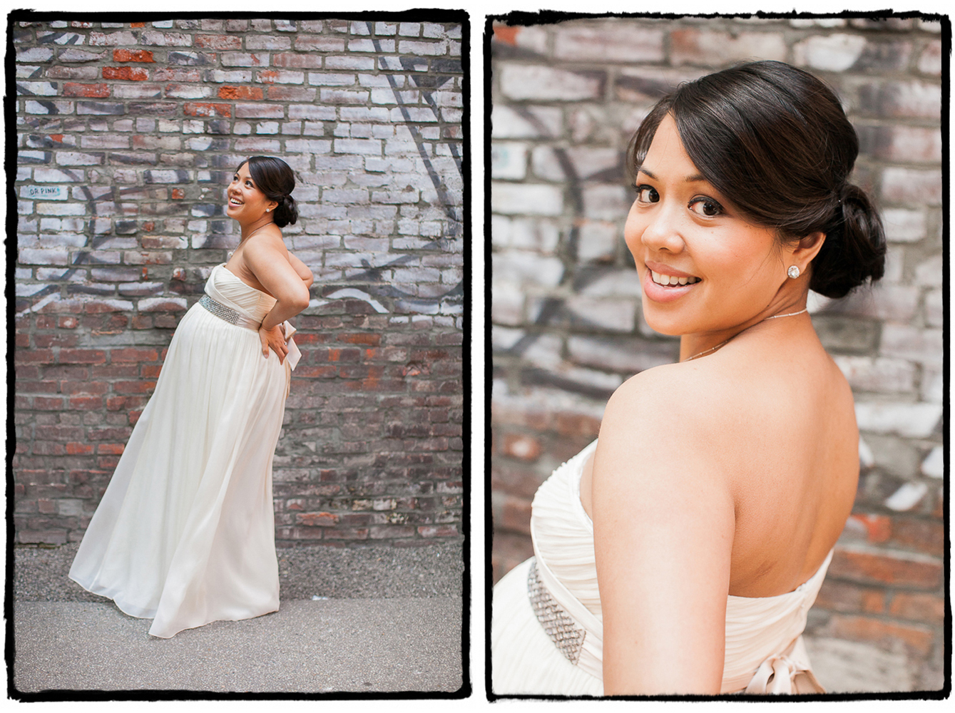 Karen was the picture perfect pregnant bride in SoHo.