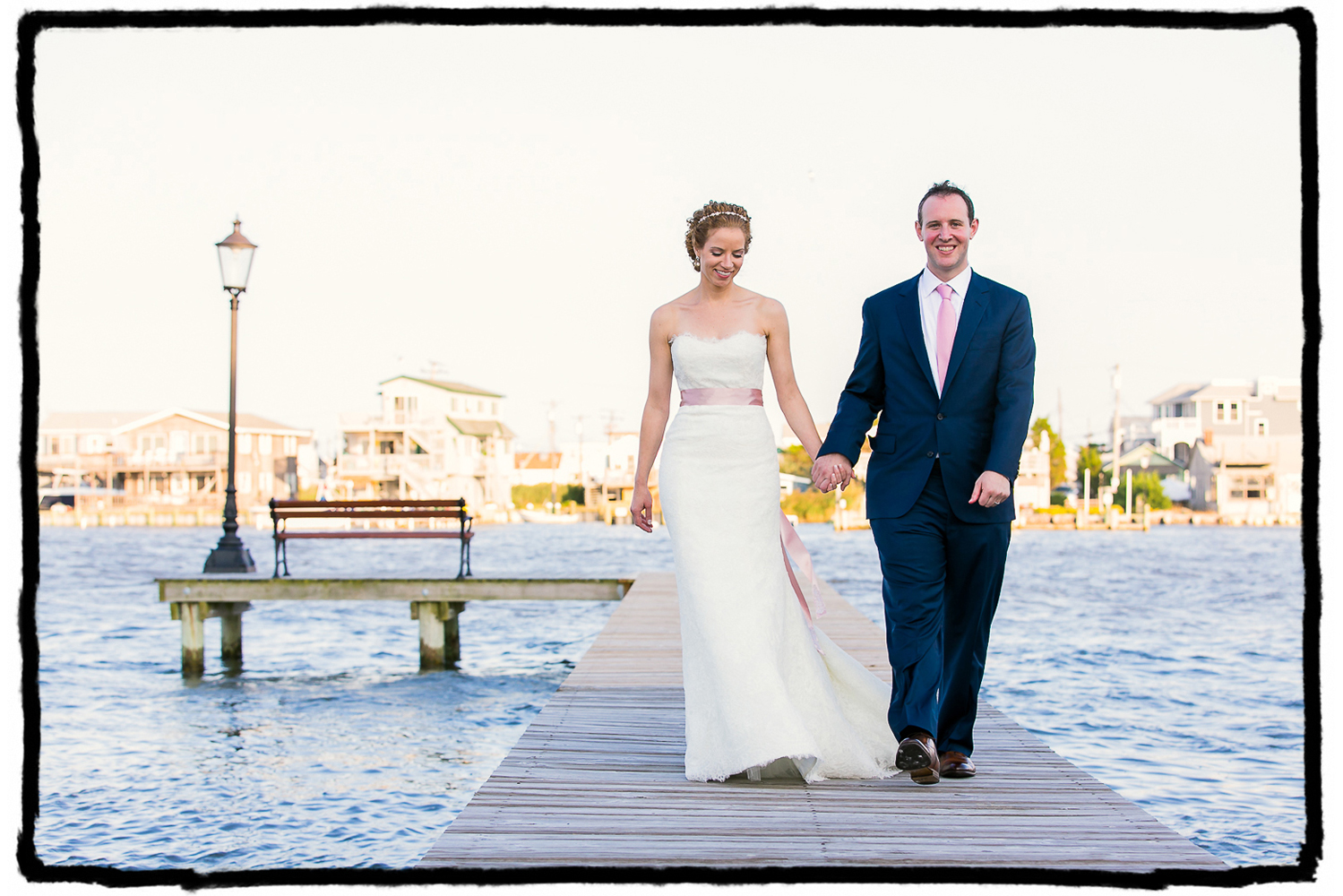 I simply had to get shots of Kelly and Scott out on this amazing dock at Bonnet Island Estate on the Jersey shore.
