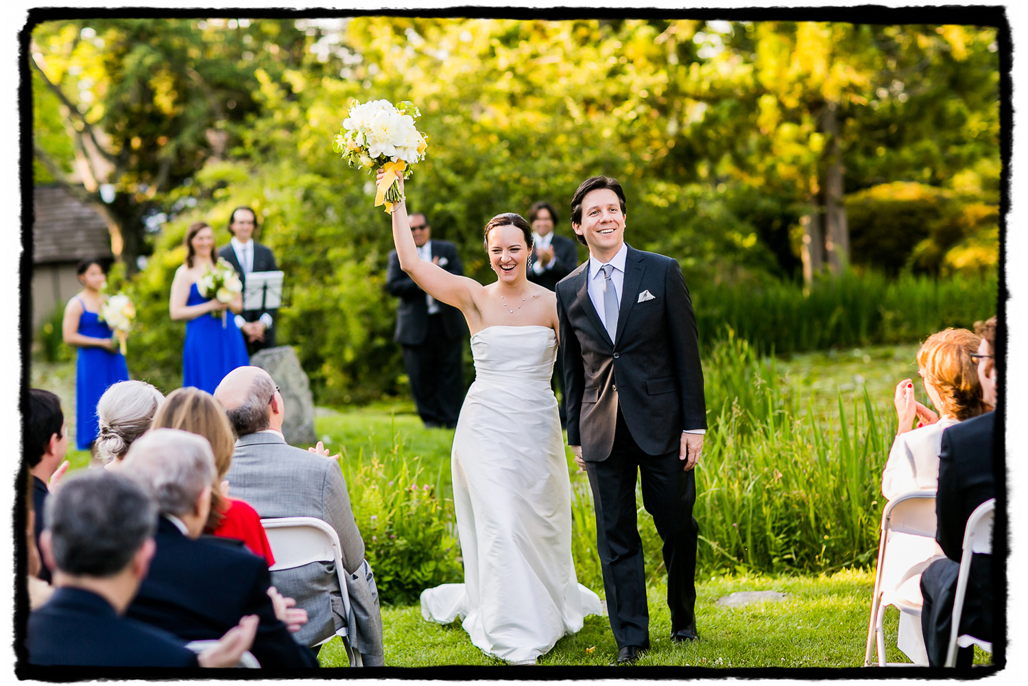Laura & Axuve tied the knot at The Hammond Museum and Japanese Stroll Garden.