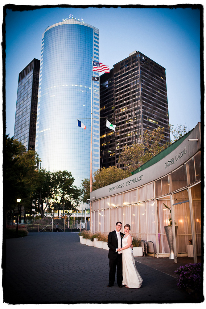 Julie and Ryan were married at Battery Gardens on the southern tip of Manhattan.