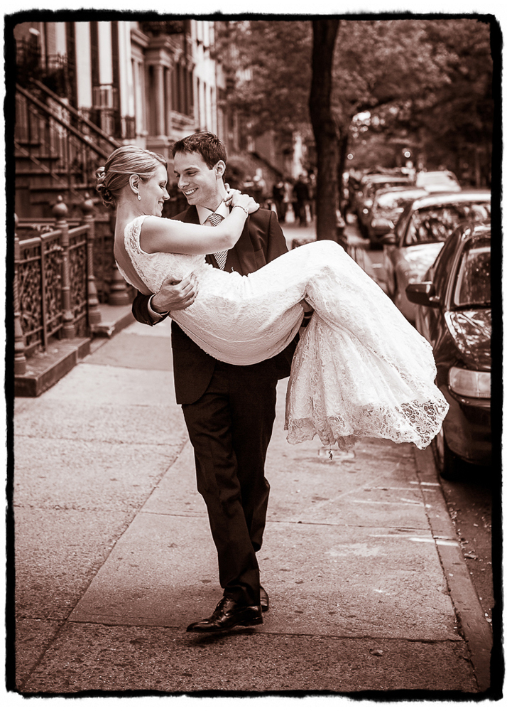 Mike swept Melissa off her feet in the East Village after a romantic intimate ceremony at the Merchant's House Museum.