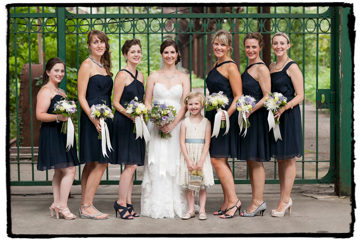 Lauren and her bridesmaids and flowergirl looked lovely at this Liberty House wedding in Jersey City.